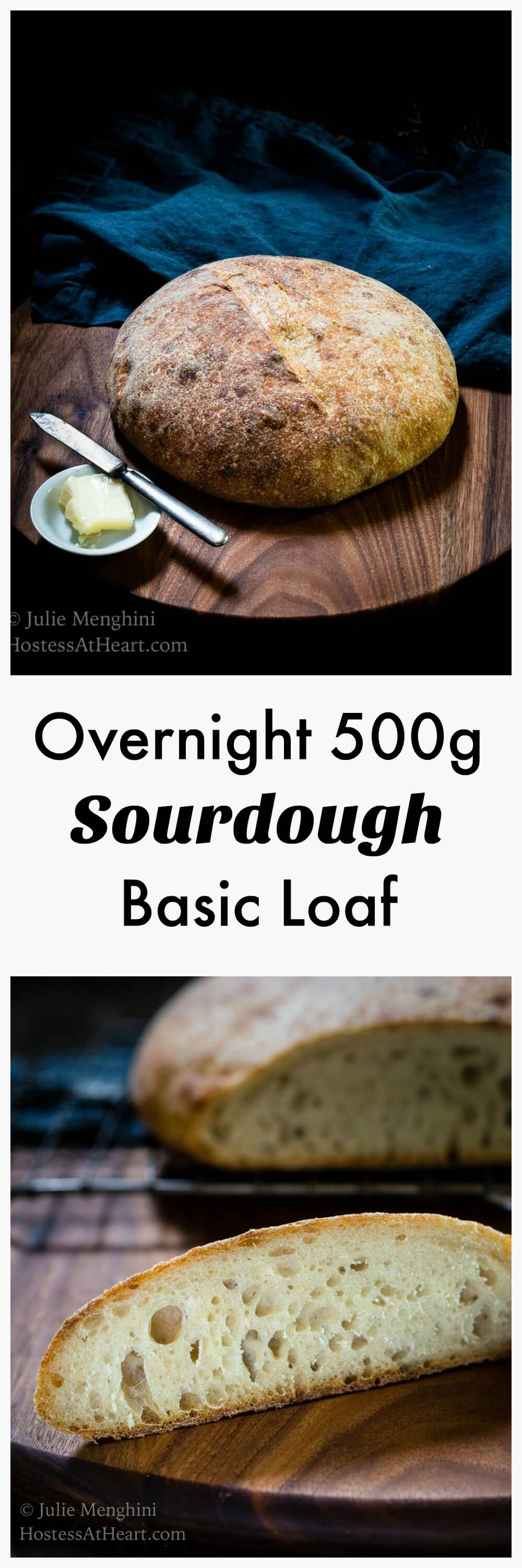 Overnight 500g Sourdough Bread recipe is a great basic recipe to make if you are just getting started baking Sourdough bread or have been at it for years. | HostessAtHeart.com #bread, #breadrecipes, #homemadebread #baking