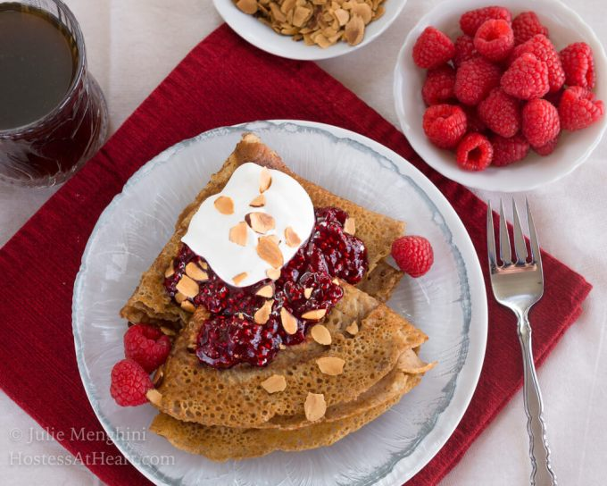 Swedish Pancakes with Raspberry Compte