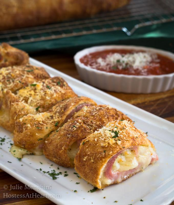Ham and 3 Cheese Stromboli