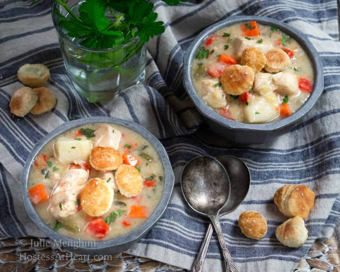 Healthier Chicken Pot Pie Soup