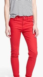 Broek rood - jeans