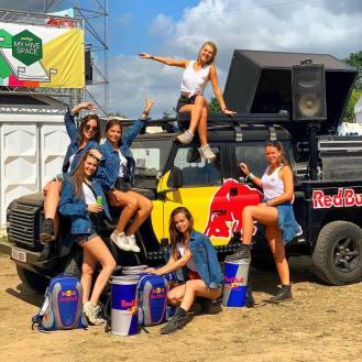 Red Bull samplingteam Rock Werchter