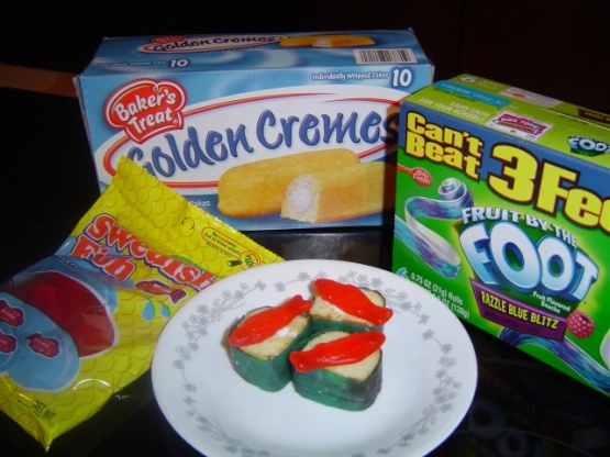 Hostess snack cakes fun party twinkie sushi candy