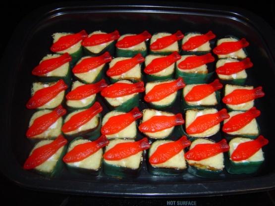 Hostess snack cakes fun party twinkie sushi gummy fish