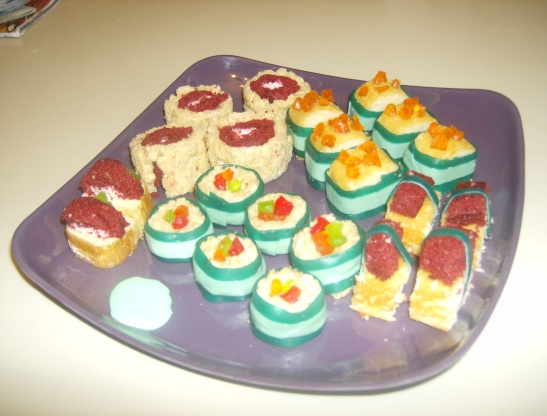 Hostess snack cakes fun party twinkie sushi plate