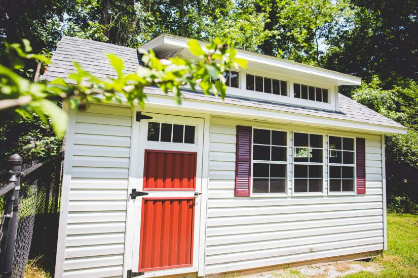 Garden Shed with Vinyl Siding
