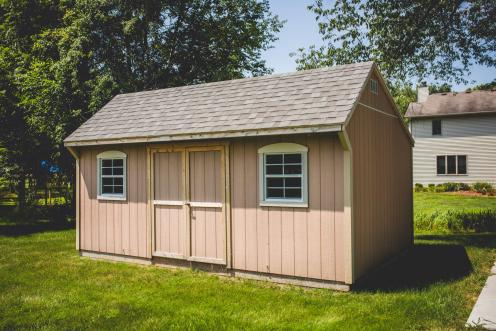 Carriage House with Wood Siding