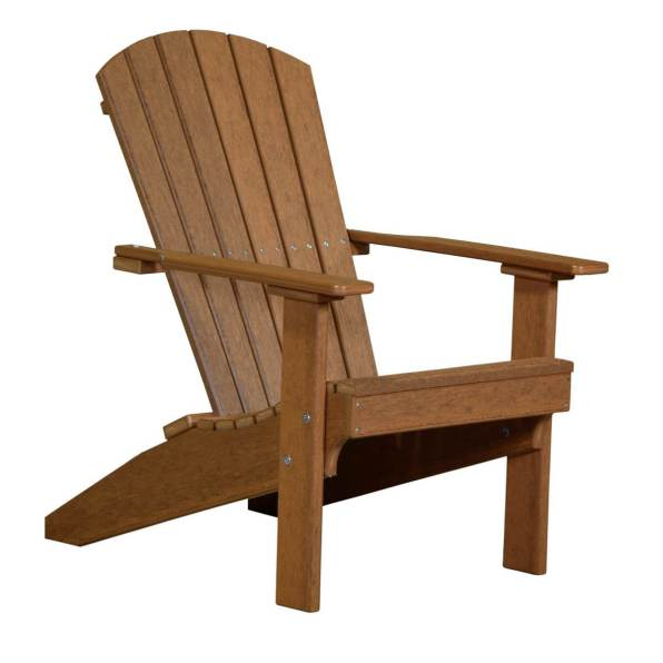 LuxCraft Poly Lakeside Adirondack Chair Antique Mahogany