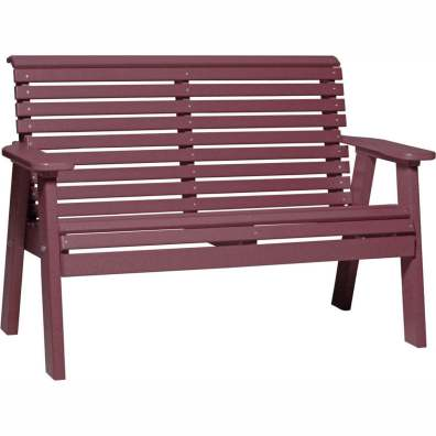 LuxCraft Poly 4' Plain Bench Cherrywood
