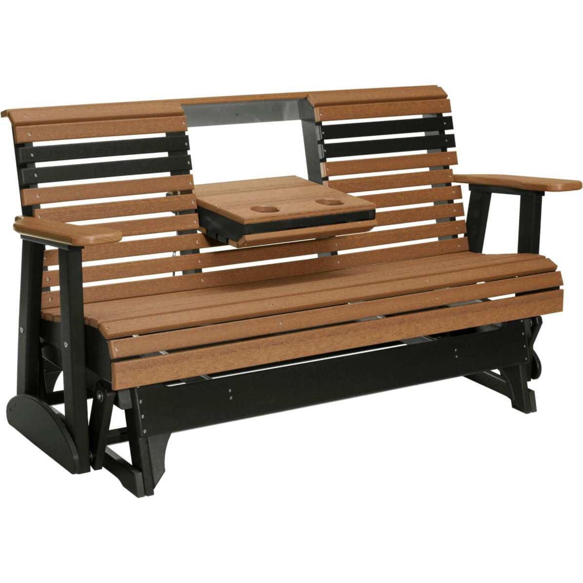 5PPGAMB 5' Plain Poly Glider (Antique Mahogany & Black)