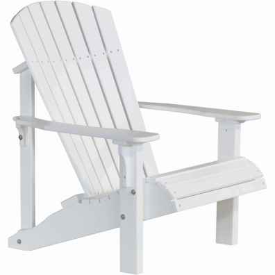 LuxCraft Poly Deluxe Adirondack Chair White