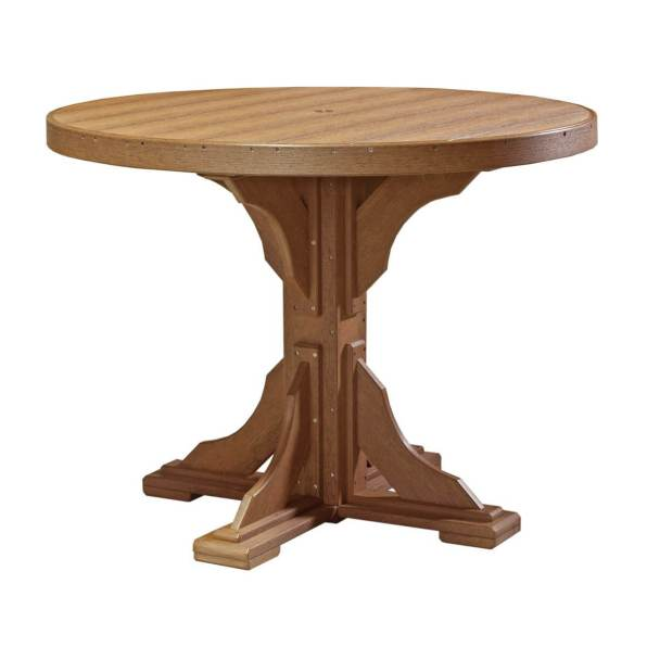 LuxCraft Poly 4' Round Table Antique Mahogany