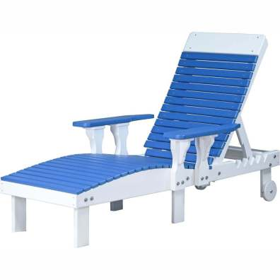LuxCraft Poly Lounge Chair Blue & White