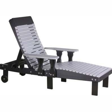 LuxCraft Poly Lounge Chair Dove Gray & Black