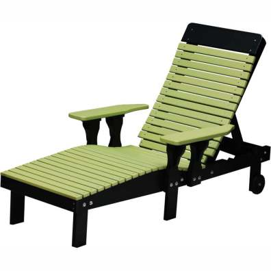 LuxCraft Poly Lounge Chair Lime Green & Black