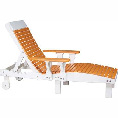 LuxCraft Poly Lounge Chair Tangerine & White