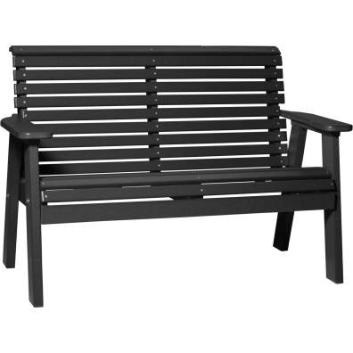 LuxCraft Poly 4' Plain Bench Black