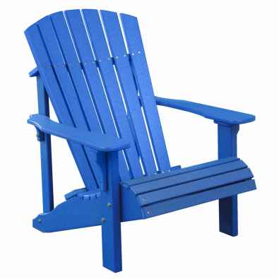 LuxCraft Poly Deluxe Adirondack Chair Blue