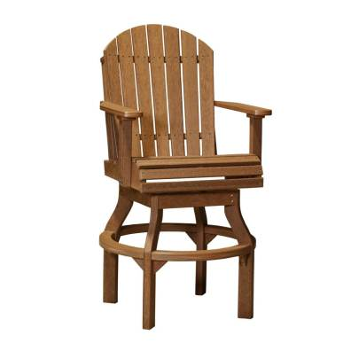 LuxCraft Poly Adirondack Swivel Chair Antique Mahogany