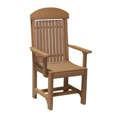 LuxCraft Poly Captain Chair Dining Antique Mahogany