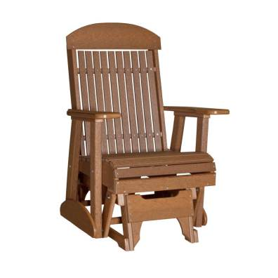 LuxCraft Poly Classic Glider Chair 2' Antique Mahogany
