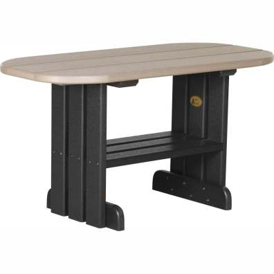 LuxCraft Poly Coffee Table Weatherwood & Black