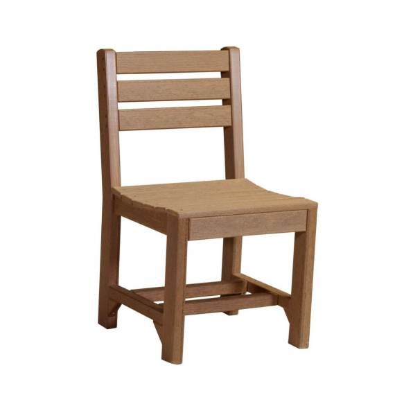 LuxCraft Poly Island Chair Antique Mahogany