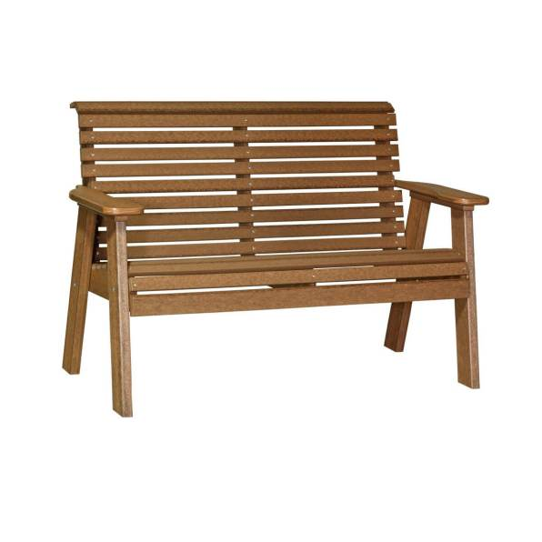 LuxCraft Poly Plain Bench 4' Antique Mahogany