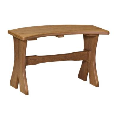 """LuxCraft Poly Table Bench 28"""" Antique Mahogany"""