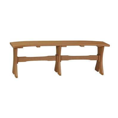 "LuxCraft Poly Table Bench 52"" Antique Mahogany"