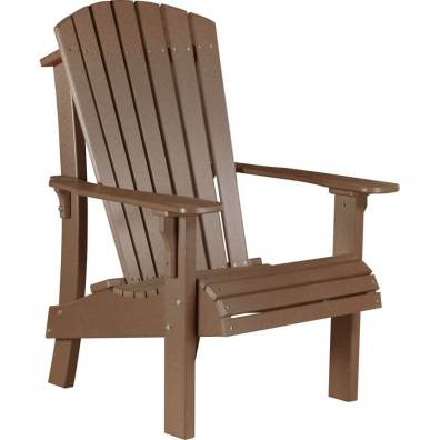 LuxCraft Poly Royal Adirondack Chair Chestnut Brown