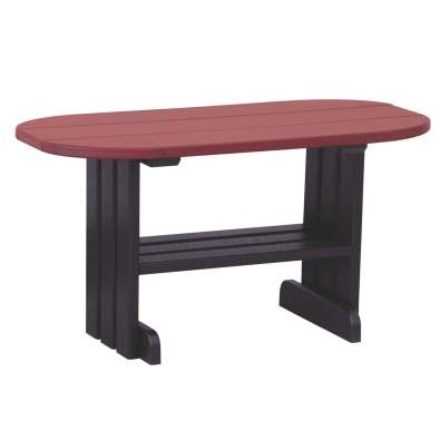 LuxCraft Poly Coffee Table Cherrywood & Black