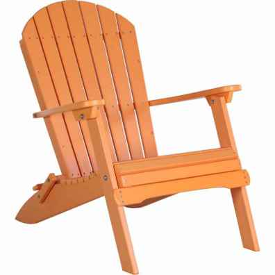 LuxCraft Poly Folding Adirondack Chair Tangerine