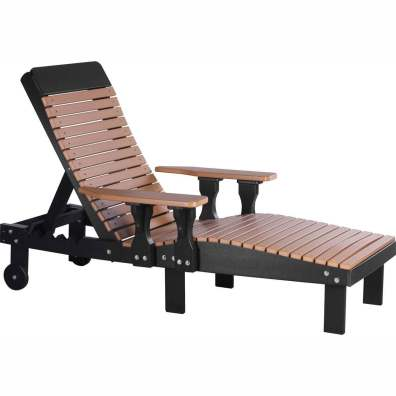 LuxCraft Poly Lounge Chair Cedar & Black