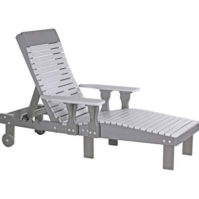 LuxCraft Poly Lounge Chair Dove Gray & Slate