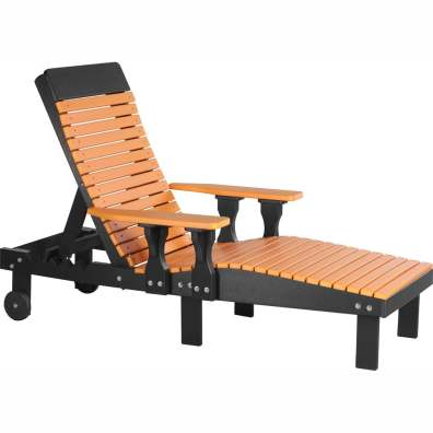 LuxCraft Poly Lounge Chair Tangerine & Black