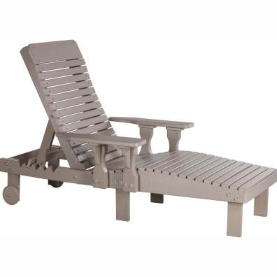 LuxCraft Poly Lounge Chair Weatherwood