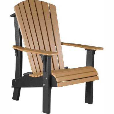 LuxCraft Poly Royal Adirondack Chair Cedar & Black