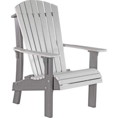 LuxCraft Poly Royal Adirondack Chair Dove Gray & Slate