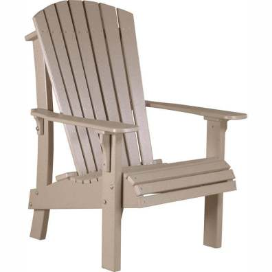 LuxCraft Poly Royal Adirondack Chair Weatherwood