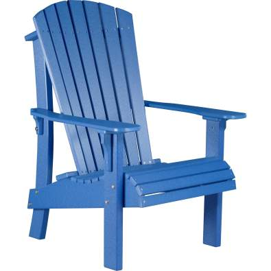 LuxCraft Poly Royal Adirondack Chair Blue
