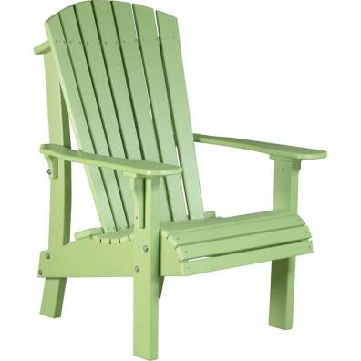 LuxCraft Poly Royal Adirondack Chair Lime Green
