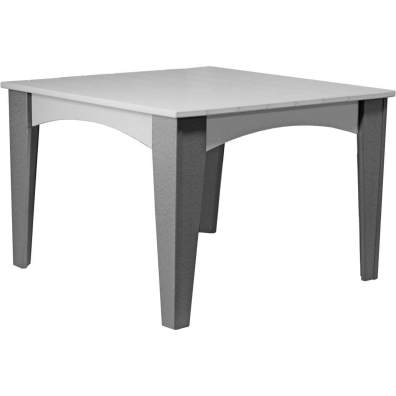 Island Dining Table (44 Square) Dove Grey & Slate