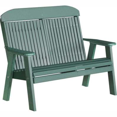 LuxCraft Poly 4' Classic Bench Green
