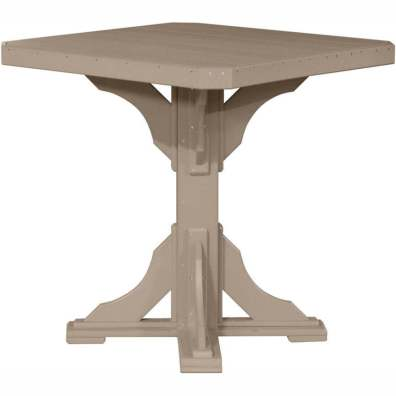 """LuxCraft Poly 41"""" Square Table Bar Height Weatherwood"""