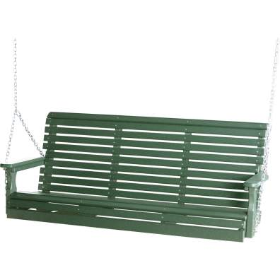LuxCraft Poly 5' Plain Swing Green