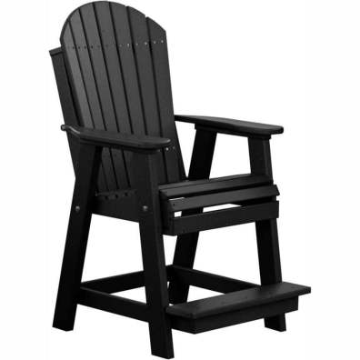 LuxCraft Poly Adirondack Balcony Chair Black