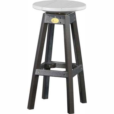 LuxCraft Poly Swivel Bar Stool Dove Gray & Black