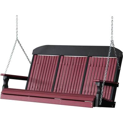 LuxCraft Poly 5' Classic Swing Cherrywood & Black