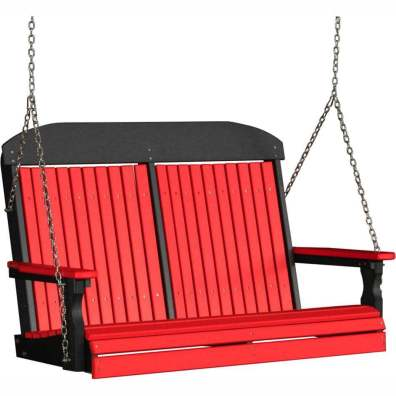 LuxCraft Poly 4' Classic Swing Red & Black